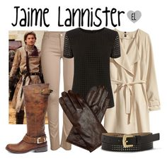 """""""Jaime Lannister -- Game of Thrones"""" by evil-laugh ❤ liked on Polyvore featuring H&M, ONLY, Oasis, Vince Camuto, Steve Madden, GameOfThrones, got, HouseLannister, jaimelannister and kingslayer"""