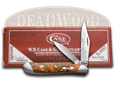 CASE XX Slant Series Oktoberfest Corelon Peanut 1/2500 Stainless Pocket Knife - CA9220-S-OF | 9220-S-OF - 026615906100