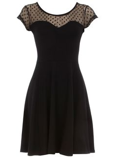 Dorothy Perkins lace flared bodice dress