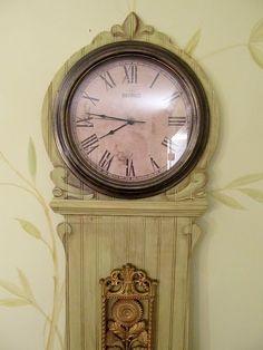 beadboard grandfather clock