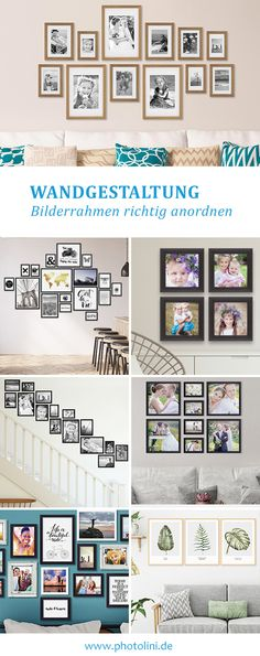 Discover helpful tips and ideas for designing a picture wall. Whether edges -, . Discover helpful tips and ideas for designing a picture wall. Be it edge, grid or Petersburg hangin Bedroom Murals, Bedroom Decor, Ad Home, Cool Curtains, Cool Walls, Picture Wall, Picture Frames, Wall Design, Room Inspiration