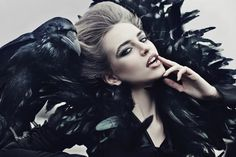 Queen of ravens by Maria Daranova, via Behance