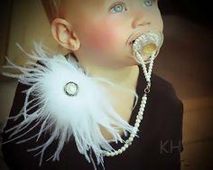 5 en 1 Convertible chupete Clip perla collar por JewelsforJewels