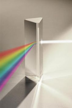 Image of light spreading through a prism