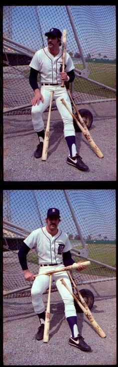 Kirk Gibson of Detroit Tigers Posing with Bats, - 1982 Detroit Sports, Detroit Tigers Baseball, Detroit News, State Of Michigan, Michigan State University, Baseball Star, Baseball Players, Sports Images, Sports Pictures