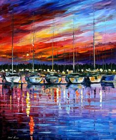 ^YACHT CLUB original oil on canvas painting by *Leonidafremov on deviantART