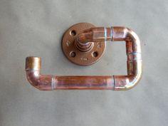 Copper Pipe Hand Towel Holder. Towel Ring Bar by DerekGoodbrand