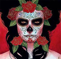 For Halloween - Dia de los Muertos makeup