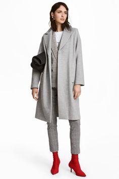 Cappotto in feltro - Grigio chiaro - DONNA   H&M IT