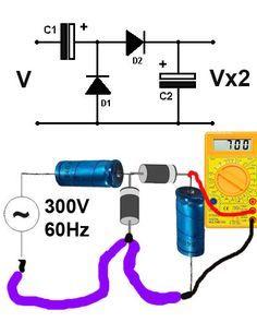 A eletrônica é muito interessante, tem circuitos que desafiam a logica dos iniciantes, um destes circuitos é o dobrador de tensão.Dobradores de tensão são