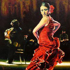 Alexey Slusar [Aлексей Cлюсар] 1961 - Ukrainian painter | Flamenco dancers | Tutt'Art@ | Pittura * Scultura * Poesia * Musica |