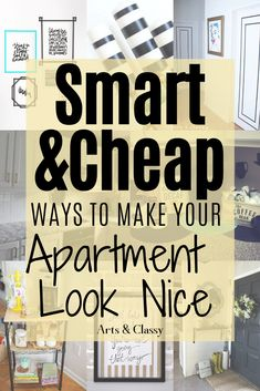 Smart and Cheap Ways to Make Your Apartment Look Nice. Apartment decorating | Apartment decorating on a budget | Apartment ideas | Apartment decor Apartment decorating rental | Apartment decorating college | Apartment decorating living room | Rental decorating | Rental decorating on a budget | Rental decorating temporary | Rental decorating house | Rental decorating apartment | Rental decor | Rental decor on a budget | Rental decorating temporary #apartmentdecor #rentaldecor