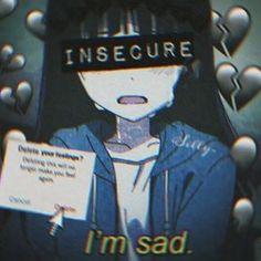 Anime Neko, Manga Kawaii, Sad Anime, Kawaii Anime Girl, Dark Anime Girl, Emo Anime Girl, Manga Girl, Gothic Anime, Sad Wallpaper