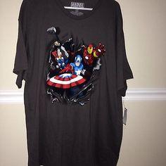 Marvel Heroes Short Sleeve Shirt XXL