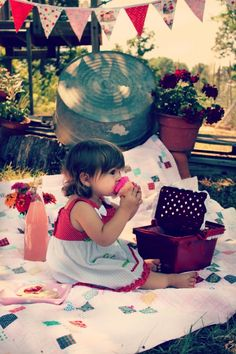Backyard Picnic - she looks like Myla!