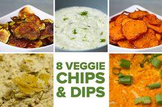 8 Homemade Veggie Chips & Dips