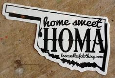 Home Sweet Homa Sticker | Tree and Leaf Clothing in the Plaza District