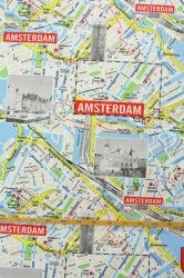 Bedrukte stof Amsterdam kaart 2