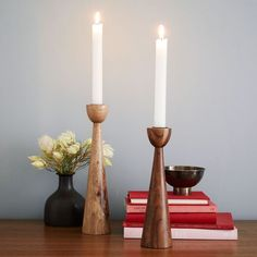 Modern Wooden Tapers | west elm