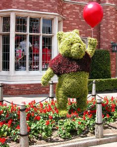 Pooh Topiary   Flickr - Photo Sharing!