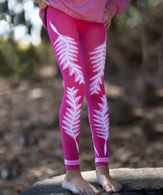 Look at this Pink Feather Organic Leggings - Infant & Girls on #zulily today!