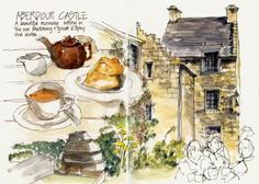 Aberdour Castle from travel journal of Liz Steel