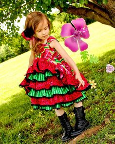 Girls Watermelon Dress Girls Watermelon Pageant Dress