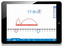 (Digital Device - app) Learning with the New Number Line App - this FREE app from The Math Learning Center helps students to explore strategies on a Number Line. An online version of the app is also available. Math Classroom, Kindergarten Math, Teaching Math, Teaching Ideas, Learning Centers, Math Centers, Fun Learning, Bridges Math, Line Math