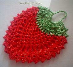 Pega Panelas Crochet Morango