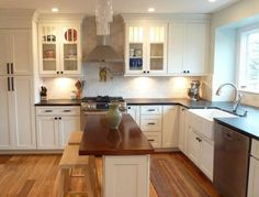 CliqStudios Painted Linen kitchen cabinets in the Dayton style