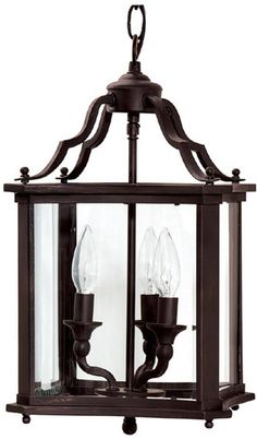 "0-027417>13""""w Signature 3-Light Foyer Chandelier Blacksmith Black"