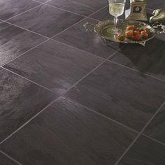 Black Slate Laminate Flooring -( 18.54 Sq.Ft. / Case)