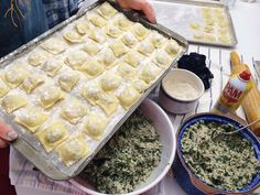 Homemade ravioli making and a classic homemade ravioli recipe from an Italian grandmother