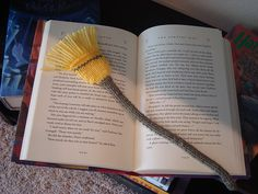 Broomstick Bookmark by Kristina Gill. Free pattern on Ravelry at http://www.ravelry.com/patterns/library/broomstick-bookmark
