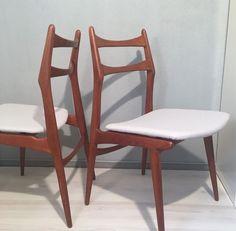 Vintage Stühle - 2 Stühle Teak von Habeo Boomerang *Mid Century - ein Designerstück von Mid-Century-Frankfurt bei DaWanda