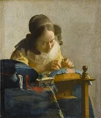 Vermeer, The Lacemaker, c1670-1671 (The Louvre)