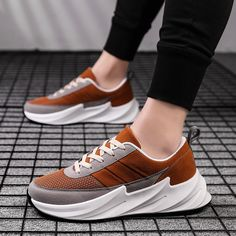 Outer Material:Mesh cloth Inner Material:Textile Sole Material:Rubber Colour:Black,Red&Green,Brown Closure Style:Lace-up Style:Sport shoes Adidas Fashion, Men's Fashion, Fashion Outfits, Air Max Sneakers, Adidas Sneakers, Maria Jose, Up Styles, Sports Shoes, Shark