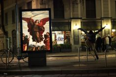 Artist Replaces Billboard Ads with Art in Milano--After Paris, Etienne Lavie attacks the billboards' ads of the city of Milano, by replacing them with famous classical paintings.
