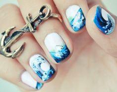 #sailor #ocean #nails
