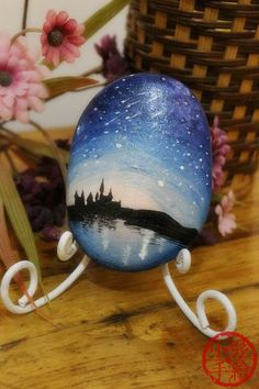 thanksgiving gift,dream,Creative gift, hand-painted stone, furnishings,rock, Christmas,brithday gift, city, meteor,night, love, soul,animal