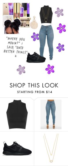 """""""Purple rain, purple rain, purple rain."""" by bria101 on Polyvore featuring WearAll, NIKE, Gorjana and Armitage Avenue"""