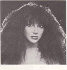 Kate Bush with crazy hair #70smusic