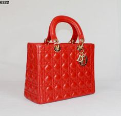 christian dior red lambskin dior lady bag 6322 gold