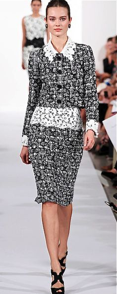 Oscar de la Renta, 2014 for the fashionista White Fashion, Love Fashion, Fashion Design, Couture Fashion, Runway Fashion, Womens Fashion, Beautiful Outfits, Cool Outfits, A Boutique