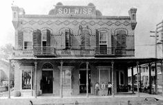 Solomon Wise building was completed 1894. This building housed Eli Wise & Co., eventually Landry Stores, and then Black's Oyster Bar.