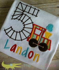 Birthday TRAIN with Number Personalized Applique by TheSassyGator, $22.99