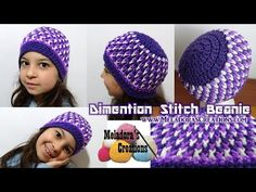 Dimention Beanie - Crochet Tutorial ( Baby - Adult Sizes ) - YouTube
