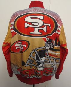 San Francisco 49ers Large Jacket Light Weight #NFL #Football Mens New Vintage Look from $99.95
