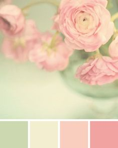 Mint + Pink Color palette / © Spitfiregirl Design by Maca