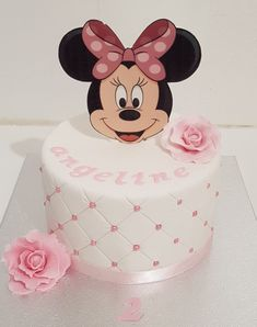 Gâteau Minnie Pour Anniversaire - Puzzle It Yourself Mini Mouse Cake, Minnie Mouse Birthday Cakes, Minnie Mouse Theme, Birthday Cake Girls, Bolo Minnie, Minnie Cake, Mickey Cakes, Mickey Mouse Cake, Cake Tutorial